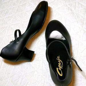 NWB Capezio Black Dance Shoe Sz 7